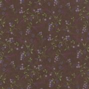 Moda Lady Slipper Lodge by Holly Taylor - 4019 - Blossoms on Earth Brown - 6583 20 - Cotton Fabric